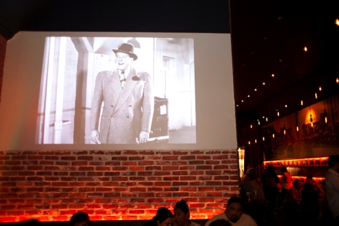 Classic films are projected throughout the bar. Photo courtesy of Luke Leonard.