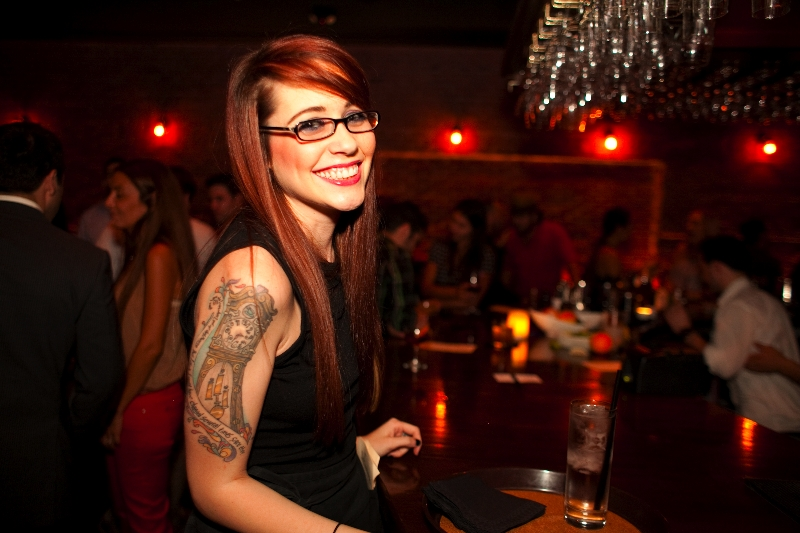 Our fantastic server, Megan. Photo courtesy of Luke Leonard.