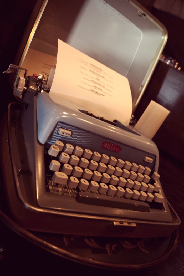 A vintage typewriter that had me at hello. Photo courtesy of Luke Leonard.