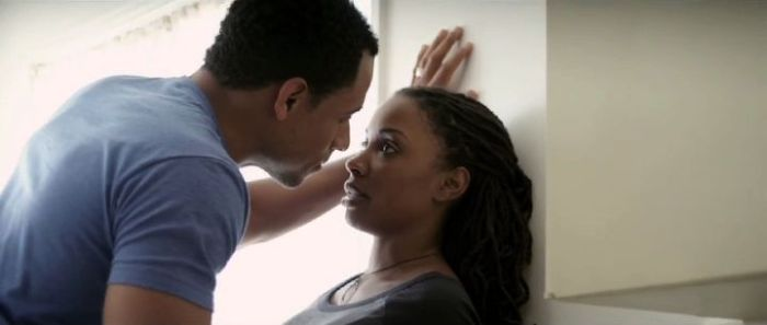 Elimu Nelson as Ronnie Stepney and Shanola Hampton as Kalindra Stepney in Things Never Said.  Photo courtesy of Lionsgate's Codeblack Entertainment.