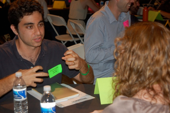 Palme d'Or winning director David Greenspan pitches his project at USC First Team event.  Photo courtesy of Kam Miller.