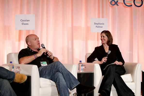Stephanie Palmer speaks on a panel with Cassian Elwes at the 2011 American FIlm Market conference.  Photo courtesy of Stephanie Palmer.