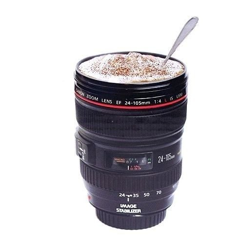 Need a little zoom-zoom? How about a cup of joe in a 24-105 mm travel mug? Photo courtesy of Caniam products.