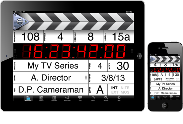 The Movie Slate app may be the perfect compromise for your next indie shoot. Photo courtesy PureBlend Software.