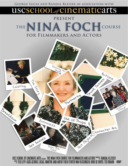 The Nina Foch DVD set continues Nina's acting-directing legacy.  Photo courtesy of Randal Kleiser, George Lucas, and the USC School of Cinematic Arts.