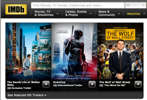 The Internet Movie Database subscription service, IMDB Pro, gives you access to lots of info. Photo courtesy of IMDB.com.