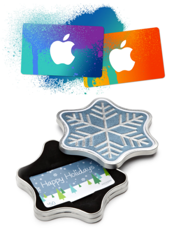When in doubt iTunes and/or Amazon gift cards are a great option. Photos courtesy of Apple, inc. and Amazon.