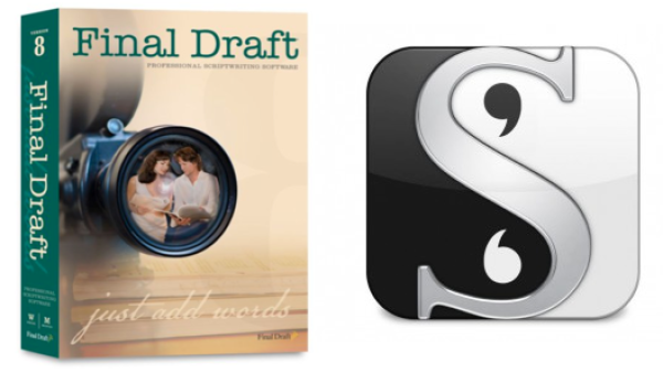 Final Draft and Scrivener app help filmmakers format their screenplays. Photo courtesy of Final Draft, Inc. and Literature and Latte.