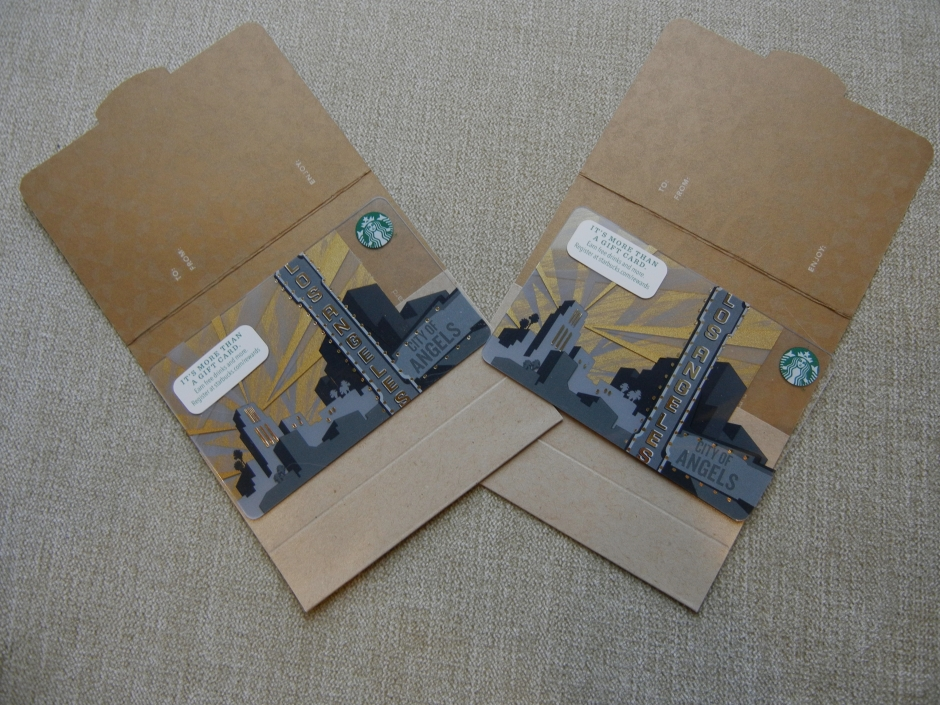 Starbucks gift cards are a quick, easy, yet meaningful gift for writers. Photo by Kam Miller