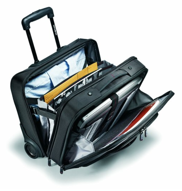 The Samsonite Xenon 2 mobile office totes a ton and fits beneath most airline seats. Photo courtesy of Samsonite, Inc.