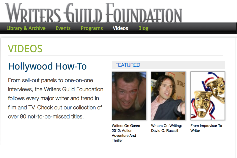 The Writers Guild Foundation offers educational opportunities for writers. Photo courtesy of Writers Guild Foundation.